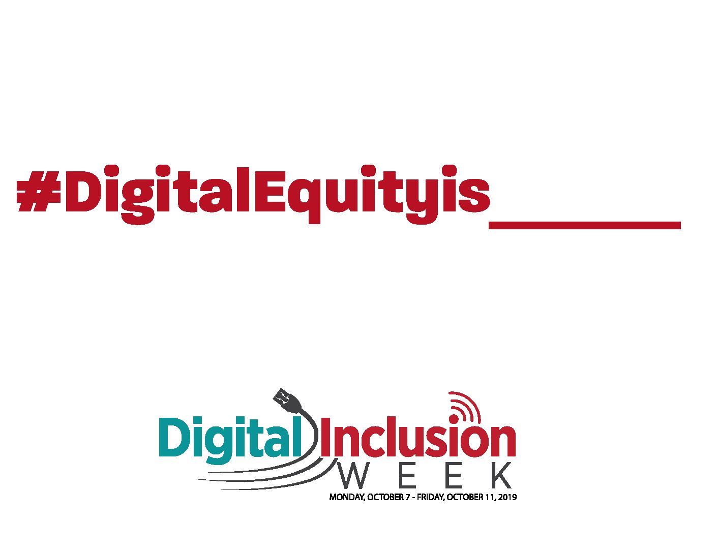 Digital Inclusion Week 2019